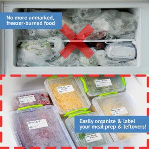 Dissolvable Freezer Labels