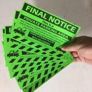 Final Notice - Private Parking Area Sticker
