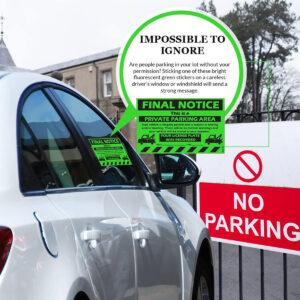 Final Notice – Private Parking Area Sticker