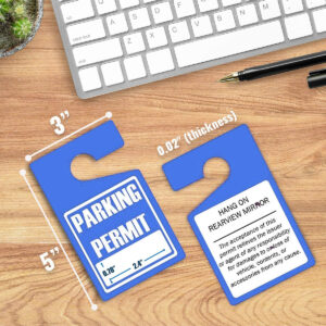 Parking Permit Hang Tags (Blue)