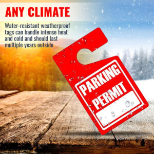Parking Permit Hang Tags (Red)