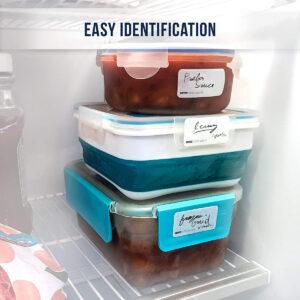 Dissolvable Food Labels (White/Blank)