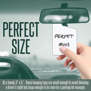Parking Permit Hang Tags (White/Blank)