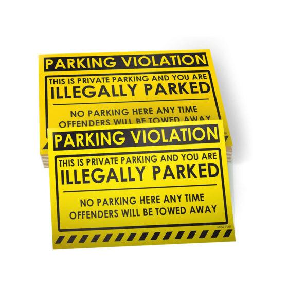 Parking Violation - Illegally Parked Sticker