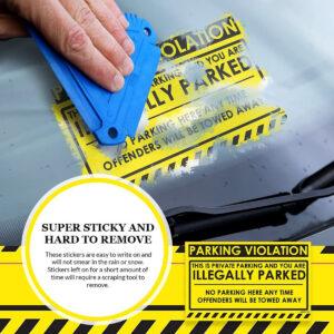 Parking Violation – Illegally Parked Sticker