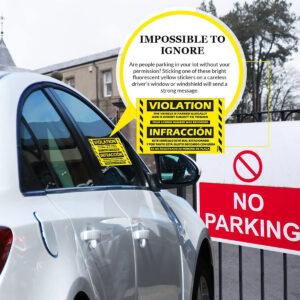 Parking Violation Stickers (Bilingual – English/Spanish)