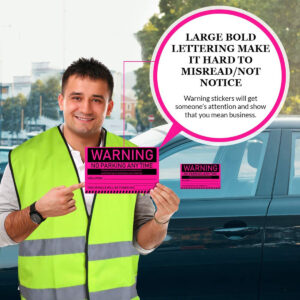 Warning – No Parking Any Time Stickers