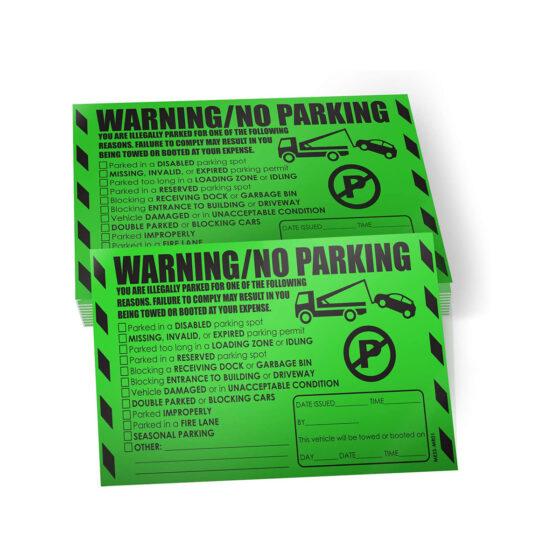 Warning & No Parking - Multi Reason Stickers