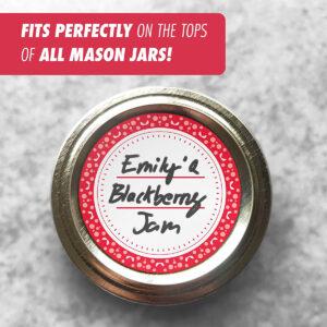 Dissolvable Canning Labels for Mason Jars 01 (Amaranth Red)