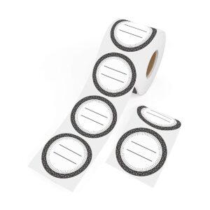 Dissolvable Canning Labels for Mason Jars 01 (Black)