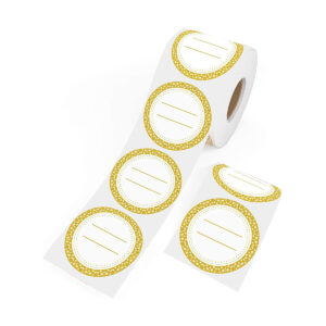 Dissolvable Canning Labels for Mason Jars 01 (Gold)