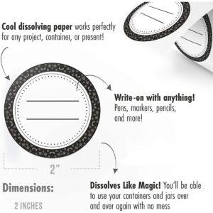 Dissolvable Canning Labels for Mason Jars 01 (Granite)