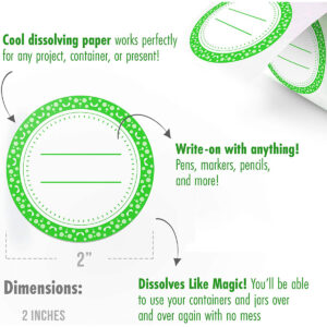 Dissolvable Canning Labels for Mason Jars 01 (Lime)