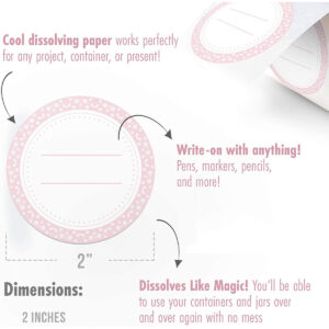 Dissolvable Canning Labels for Mason Jars 01 (Mimi Pink)