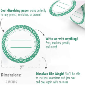 Dissolvable Canning Labels for Mason Jars 01 (Mint)