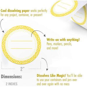 Dissolvable Canning Labels for Mason Jars 01 (Mustard)