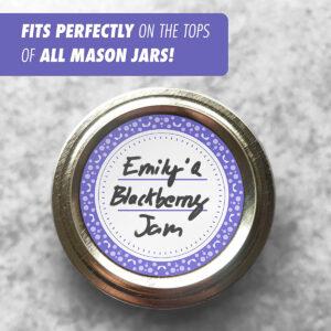 Dissolvable Canning Labels for Mason Jars 01 (Slate Blue)