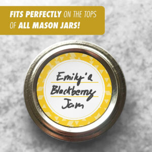 Dissolvable Canning Labels for Mason Jars 02 (Amber)