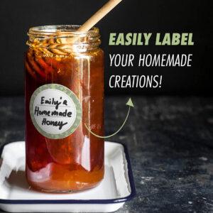 Dissolvable Canning Labels for Mason Jars 02 (Artichoke)