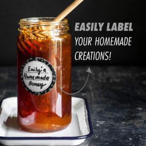 Dissolvable Canning Labels for Mason Jars 02 (Black)
