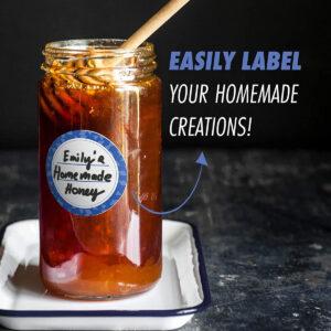 Dissolvable Canning Labels for Mason Jars 02 (Cobalt Blue)