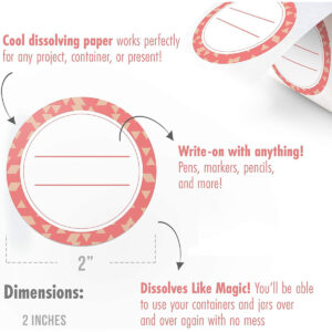 Dissolvable Canning Labels for Mason Jars 02 (Coral)