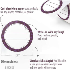 Dissolvable Canning Labels for Mason Jars 02 (Eggplant)