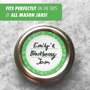 Dissolvable Canning Labels for Mason Jars 02 (Kelly Green)