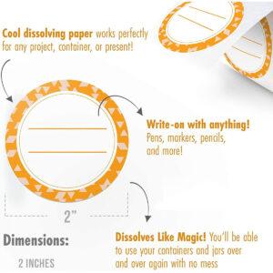 Dissolvable Canning Labels for Mason Jars 02 (Orange Peel)