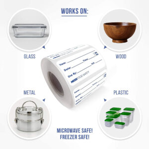 Dissolvable Food Labels with EZ-Dispensing Box