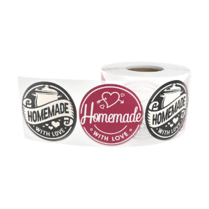 """""""Homemade with Love"""" Stickers"""