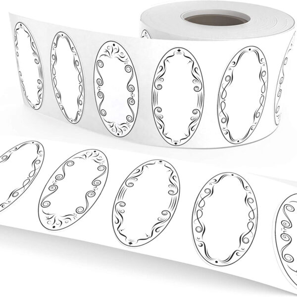 Dissolvable Oval Classic Canning Labels for Mason Jars (3 Designs)