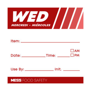 """Dissolvable """"Day Of The Week"""" Labels (Wednesday)"""