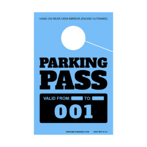 Sequential Numbered Parking Permits